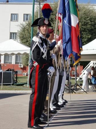 A Carabineri with the Color Guard
